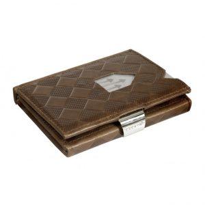 HAZELNUT CHESS LEATHER WALLET (RFID BLOCK)