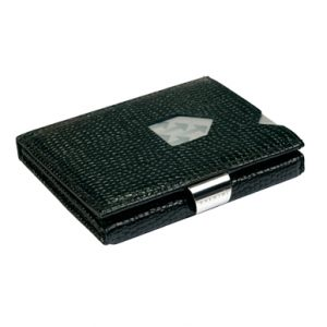MOSAIC BLACK LEATHER WALLET (RFID BLOCK)