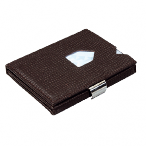 MOSAIC BROWN LEATHER WALLET (RFID BLOCK)