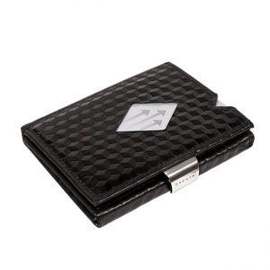 BLACK CUBE LEATHER WALLET (RFID BLOCK)