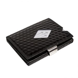 BLACK CUBE LEATHER WALLET (RFID BLOCK)