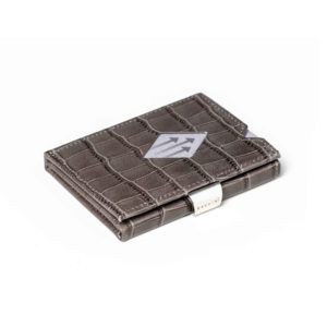 Caiman Grey LEATHER WALLET (RFID BLOCK)